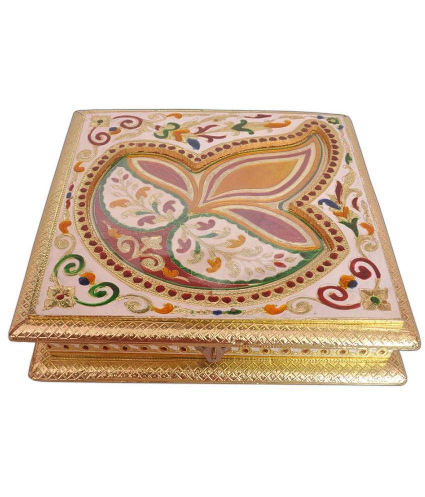Aatish Multicolour Wood Decorative Box 6 - Pack of 1