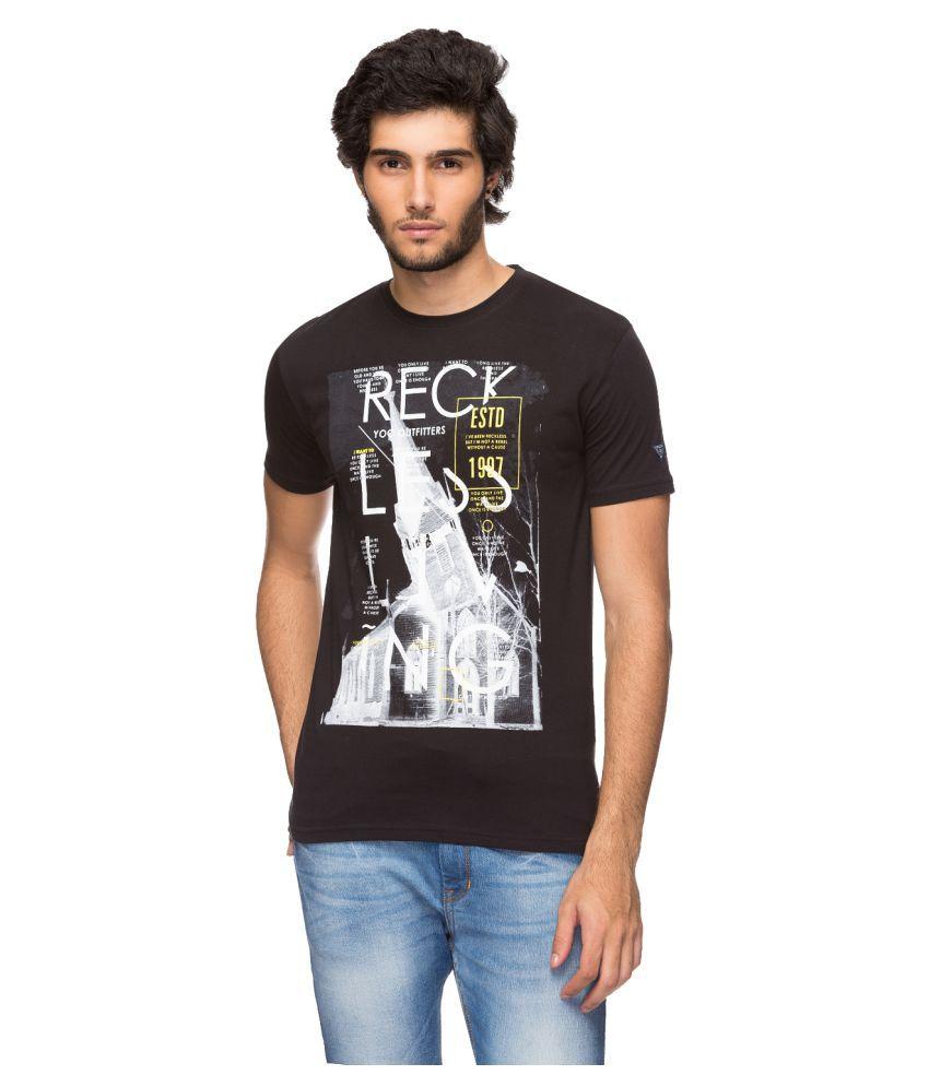 YOO Black Round T-Shirt