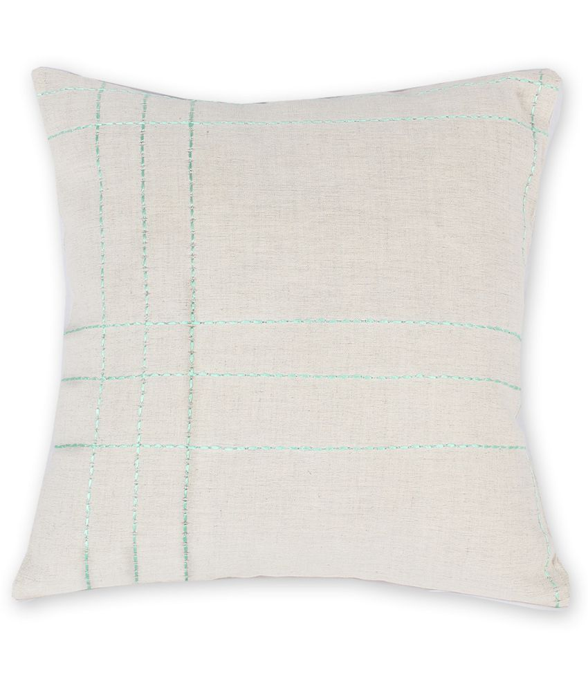 House This Set of 2 Cotton Cushion Covers 40X40 cm (16X16)