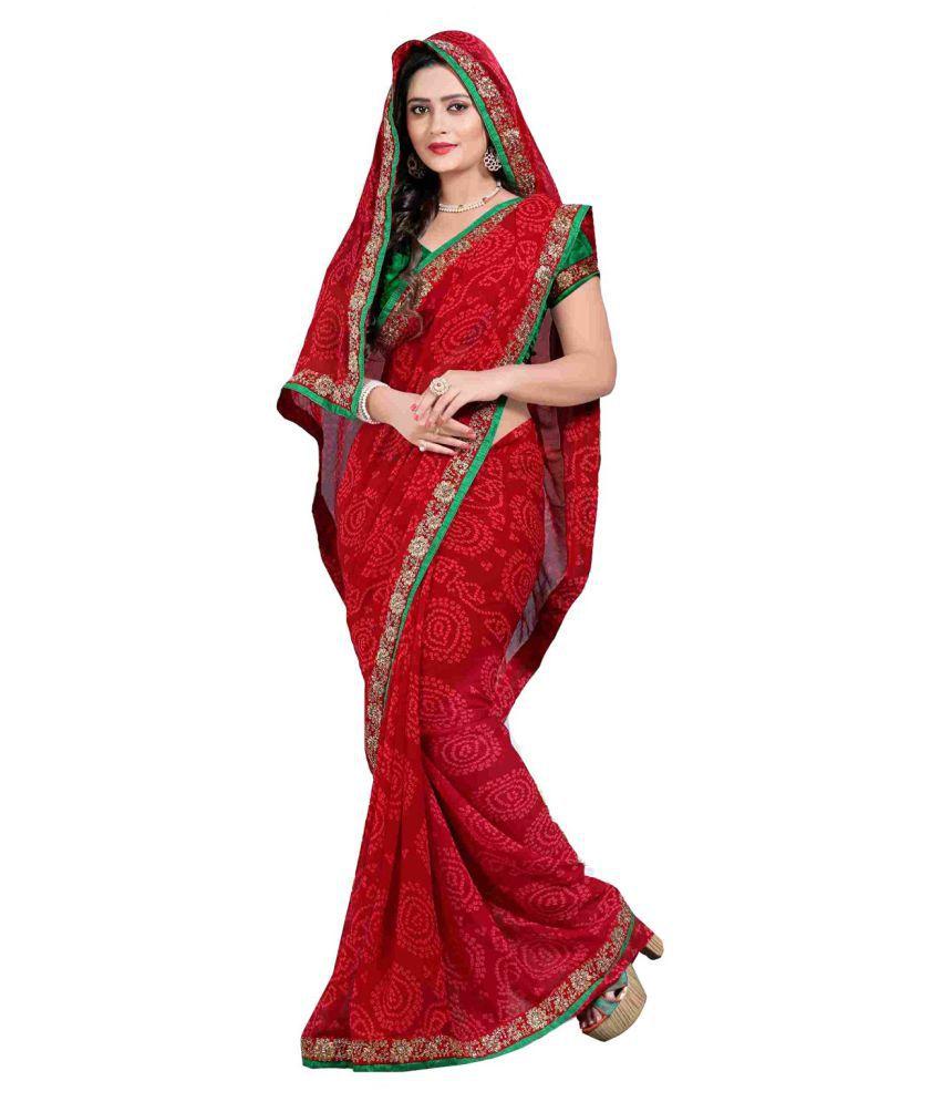 9cdef0405b4 Zofey Bollywood Designer SareeS Red Georgette Saree - Buy Zofey Bollywood  Designer SareeS Red Georgette Saree Online at Low Price - Snapdeal.com
