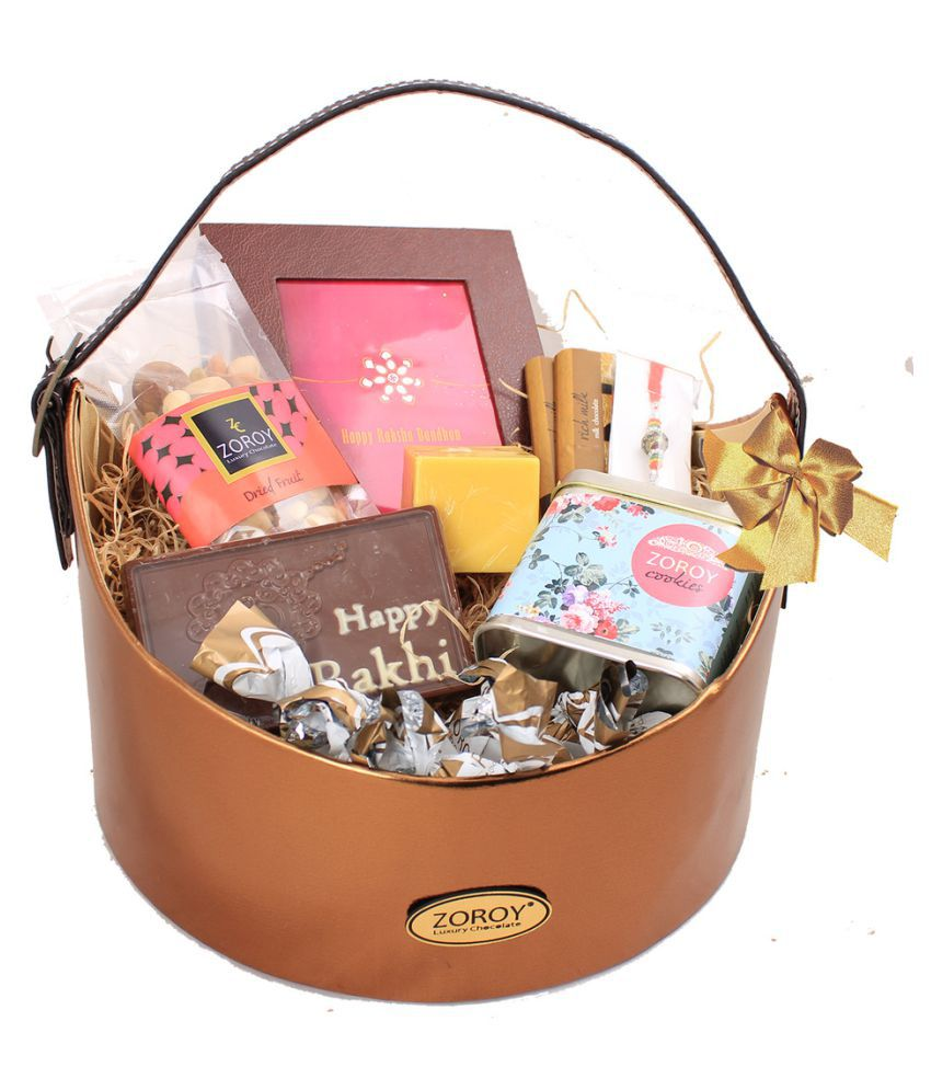 ZOROY LUXURY CHOCOLATE Assorted Chocolate Assorted Basket Rakshabandhan Well Basket hamper 2000 gm