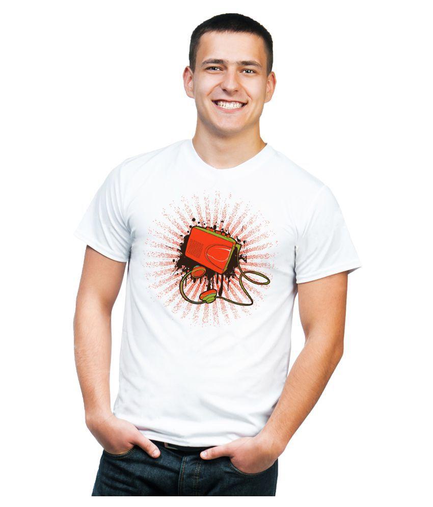 Cuddlyprint White Round T-Shirt