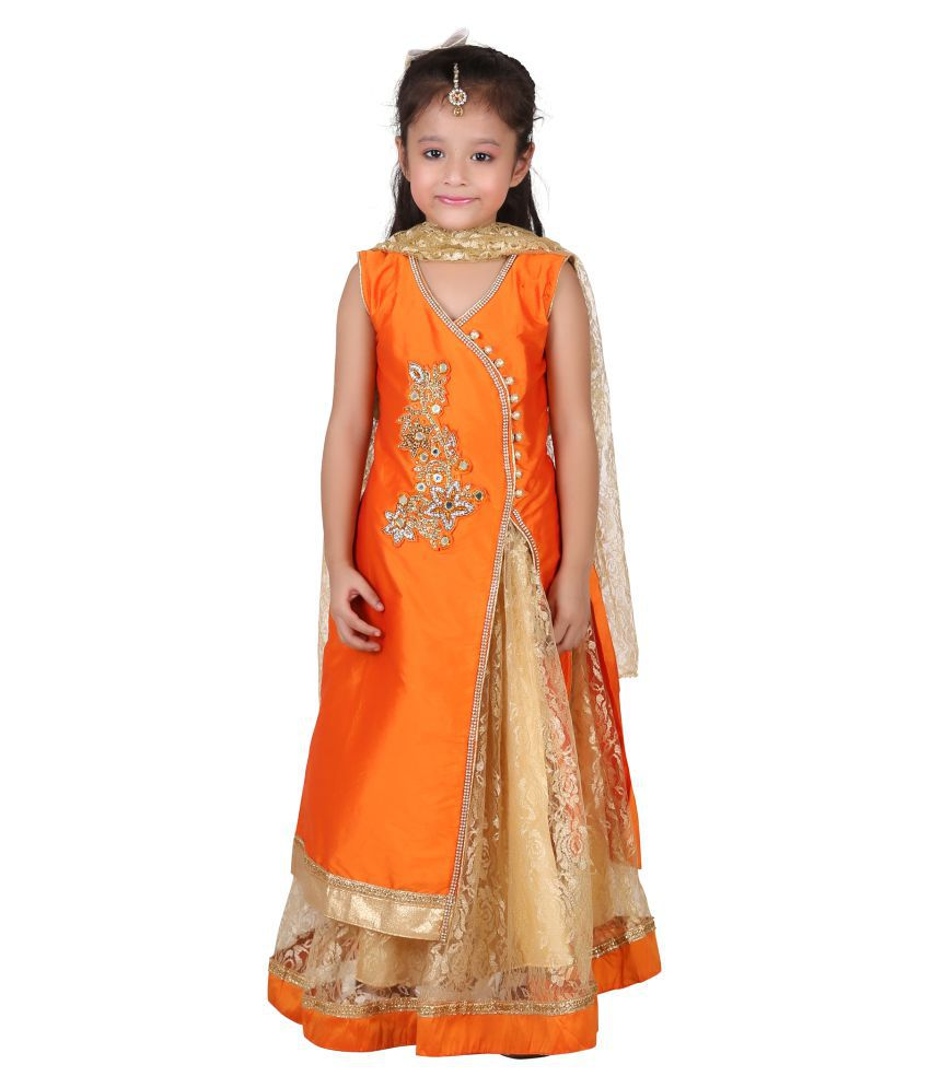 35ee3b5b67257 Qeboo Girls Lehenga Choli Western Wear Embroidered Lehenga Choli - Buy  Qeboo Girls Lehenga Choli Western Wear Embroidered Lehenga Choli Online at  Low Price ...