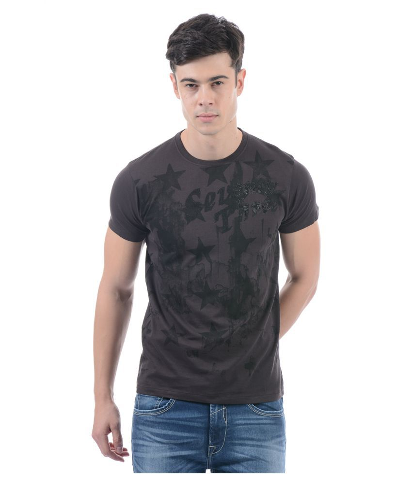 Pepe Jeans Brown Round T-Shirt