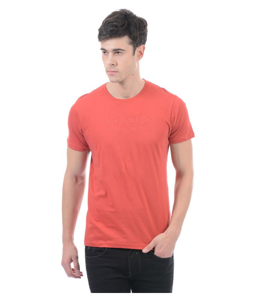 Pepe Jeans Red Round T-Shirt