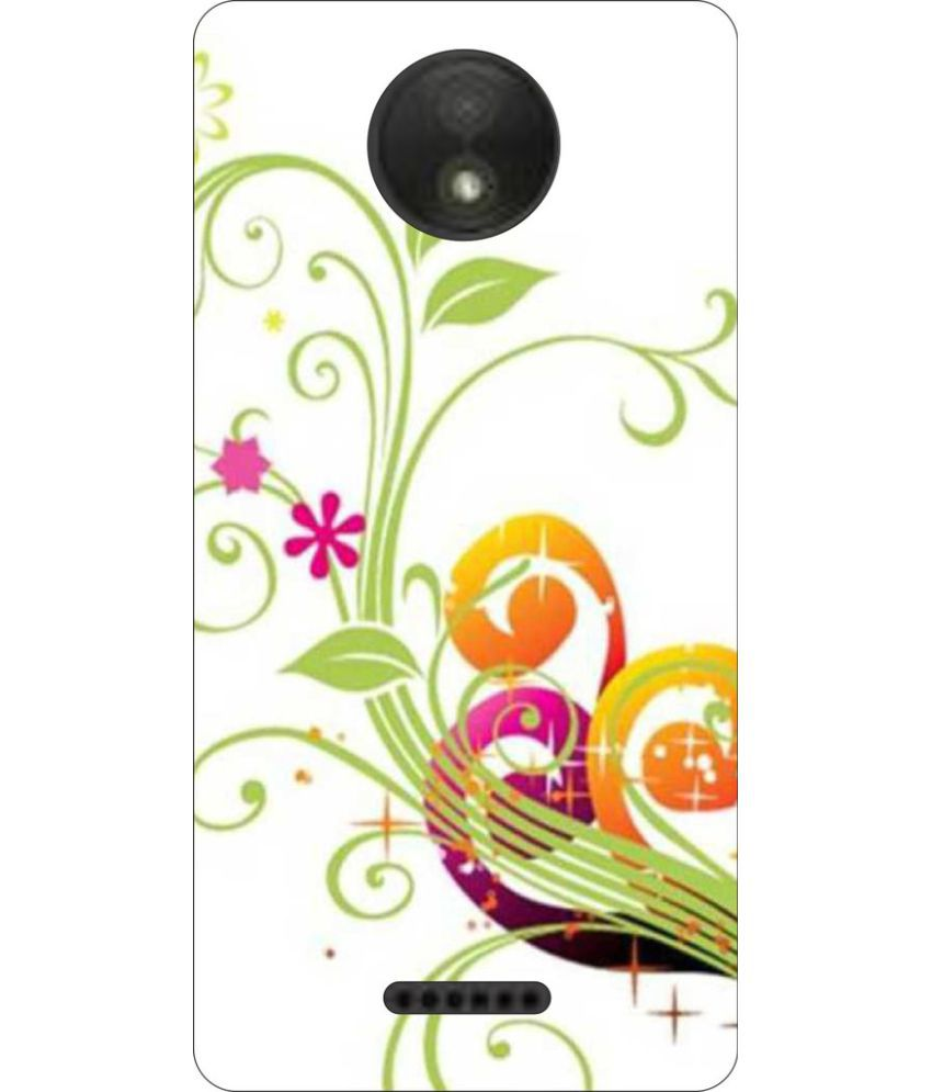 Moto C Printed Cover By Go Hooked