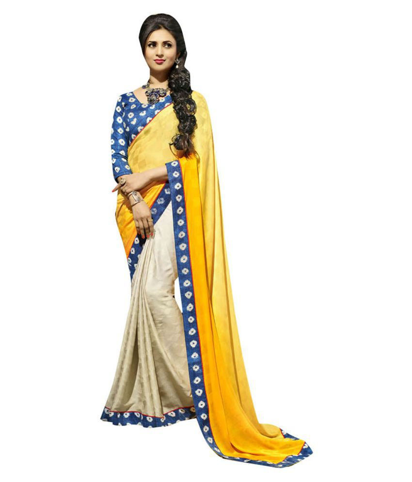 Shaily Multicoloured Georgette Saree