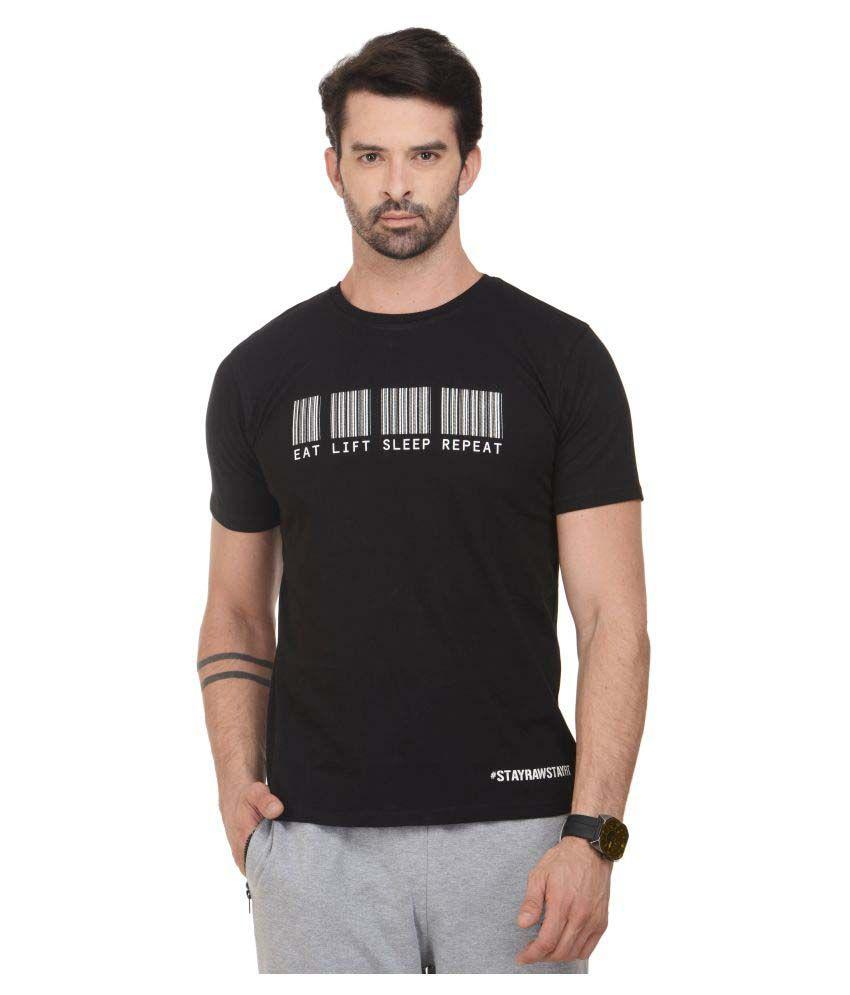 RAWFITT Black Cotton T-Shirt Single Pack
