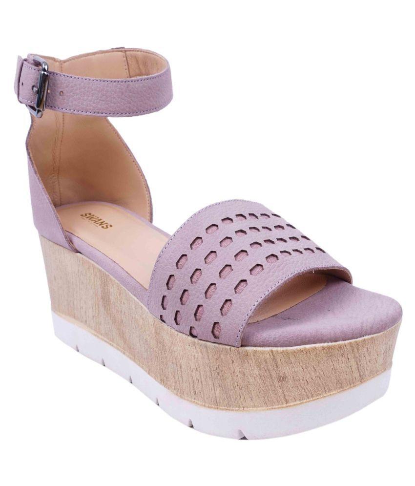 SWANSIND Pink Wedges Heels