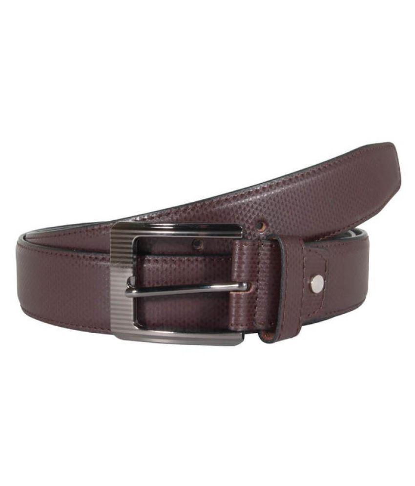 Snoby Brown PU Casual Belts