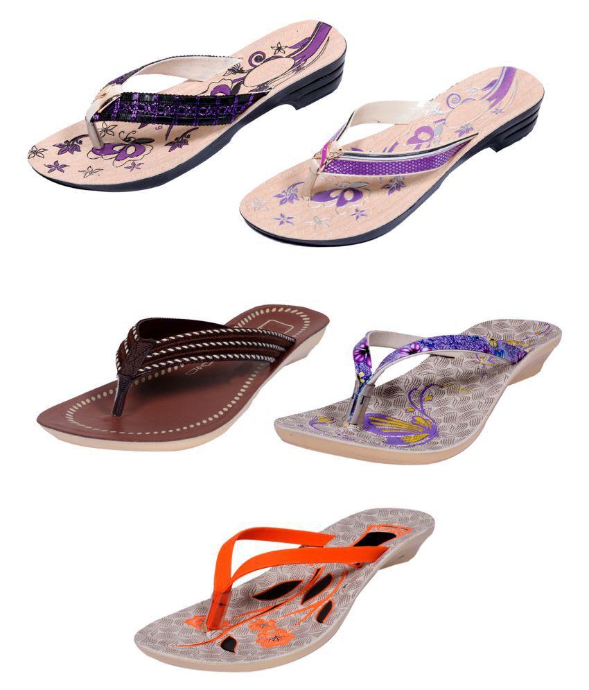 IndiWeaves Multi Color Flats
