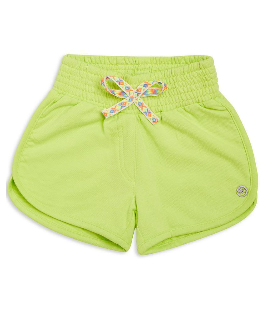 FS MiniKlub Girl's Knit Shorts-Lime Green