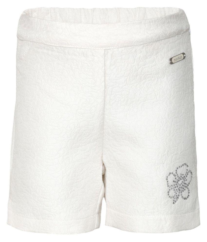 FS MiniKlub Girl's Woven Shorts-White