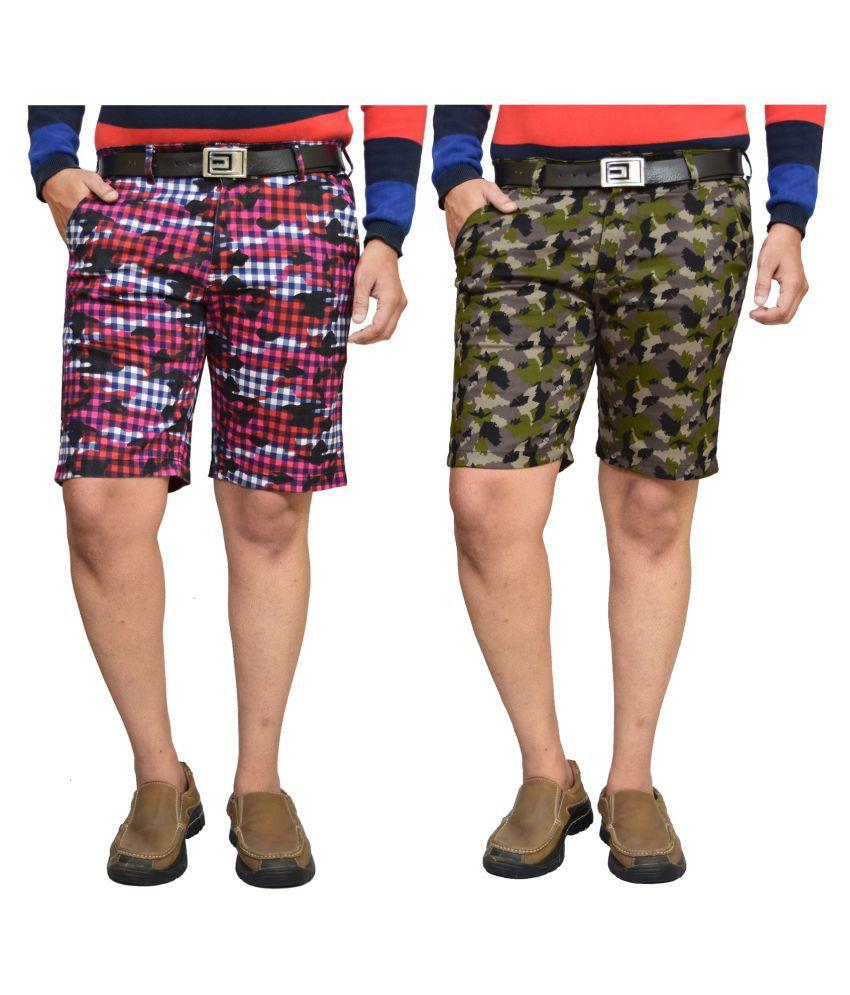 American Noti Multi Shorts 2 shorts