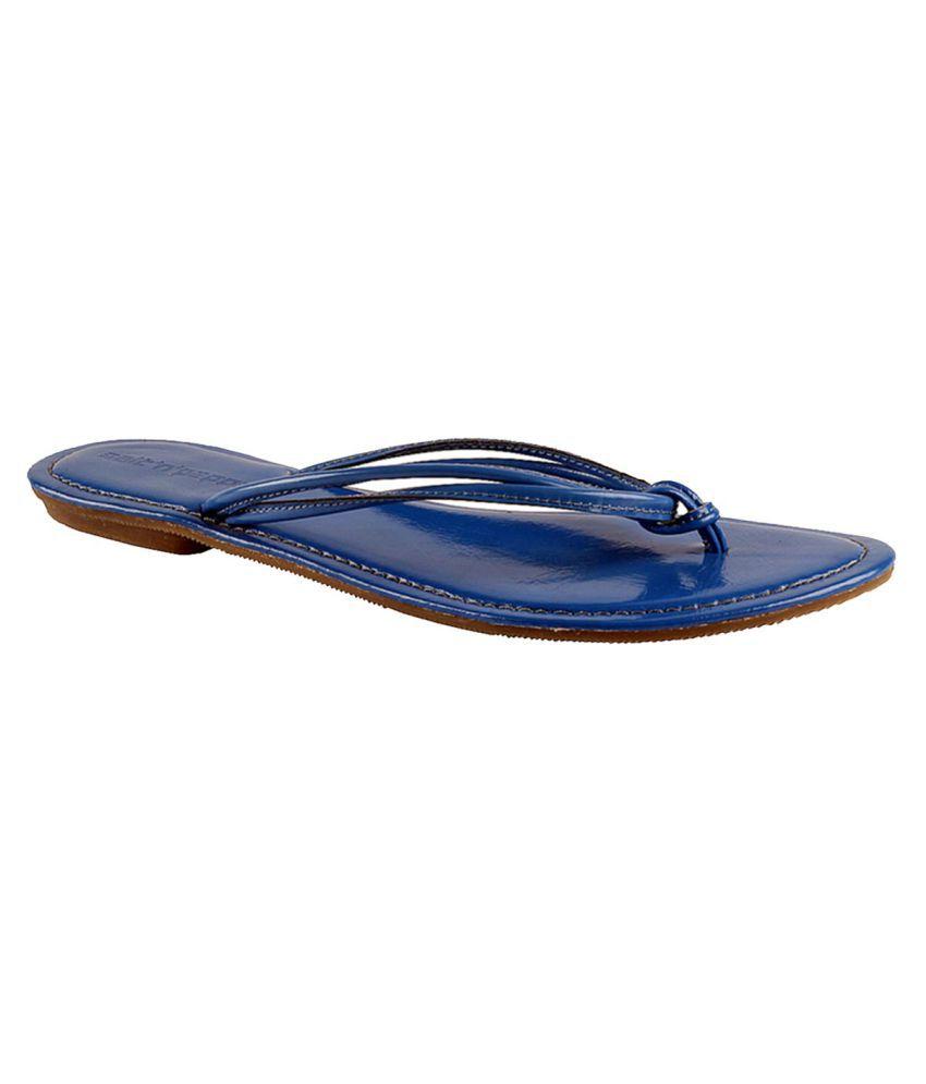 Salt N Pepper Blue Slippers