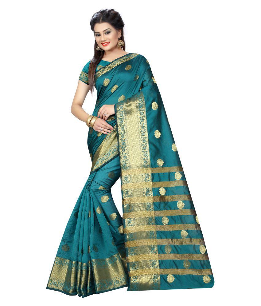 Shailaja Sarees Green Jacquard Saree
