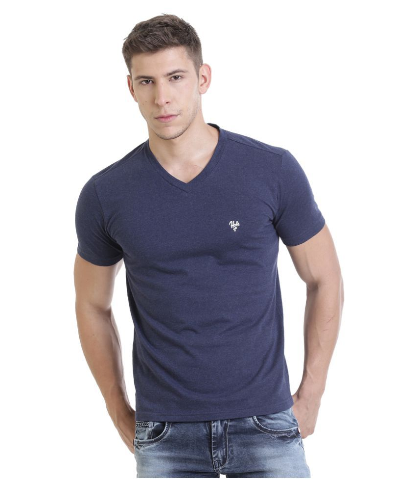 HOLS Blue V-Neck T-Shirt