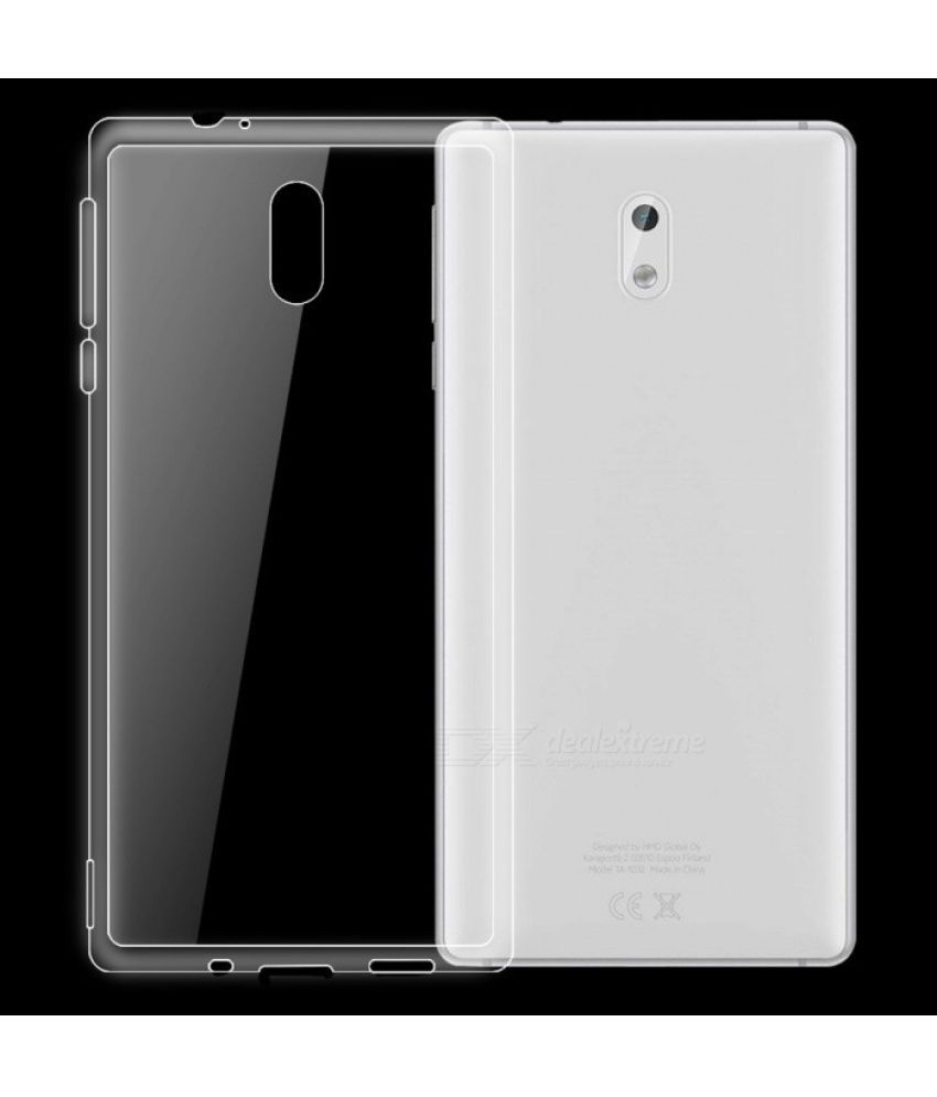 newest be5b2 6c0d2 Nokia 3 Soft Silicon Cases feomy - Transparent
