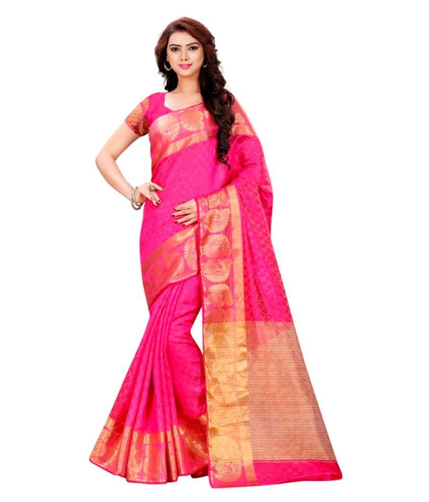 BMR Pink Banarasi Silk Saree