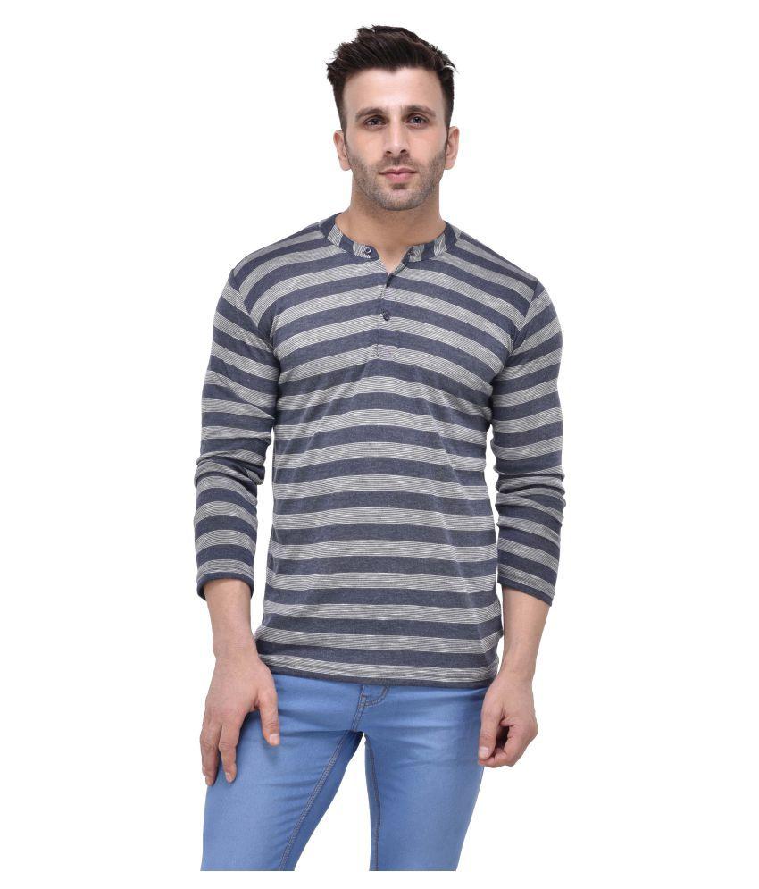 Tinted Navy Henley T-Shirt
