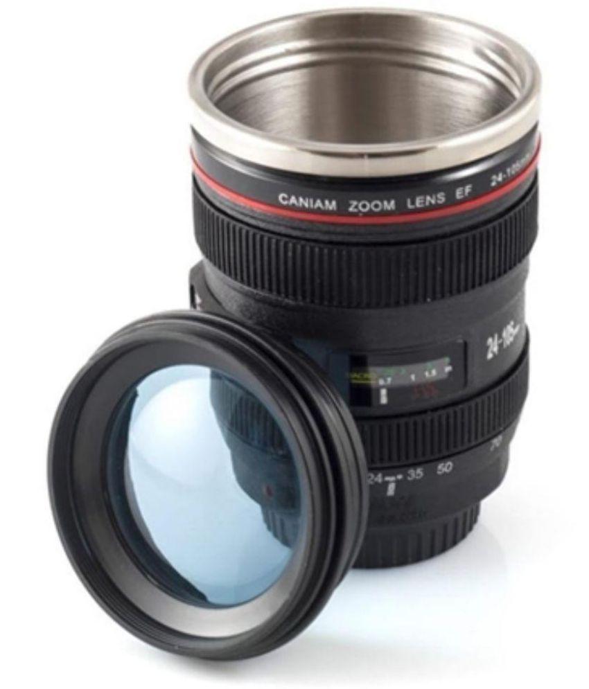 Cierie Black Camera Lens Mug Plastic Tea Cup 1 Pcs Buy