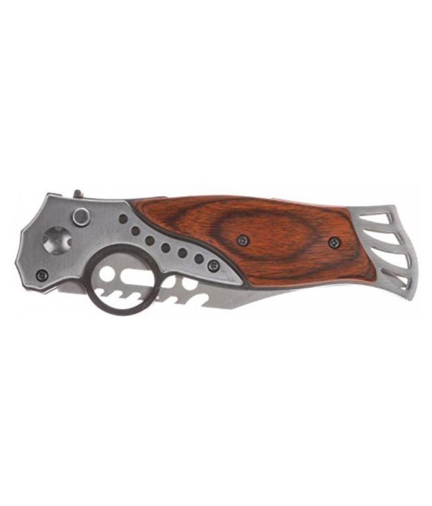 prijam Knife JAB-097 Foldable Pocket Knife With LED Torch(13 cm)