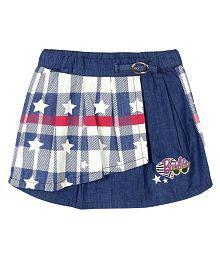 Quick View Barbie Girls Checkered Pleated Denim Skirt