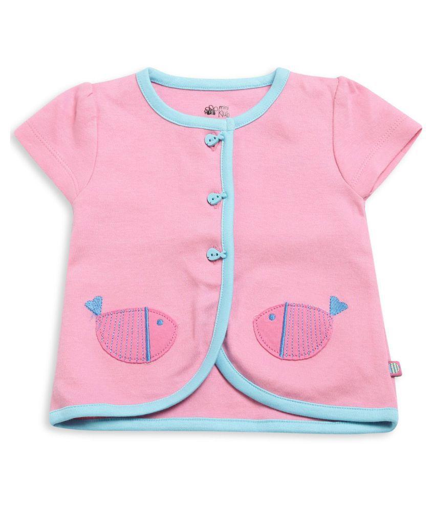 FS Miniklub Girl's Front Open Vest-Pink