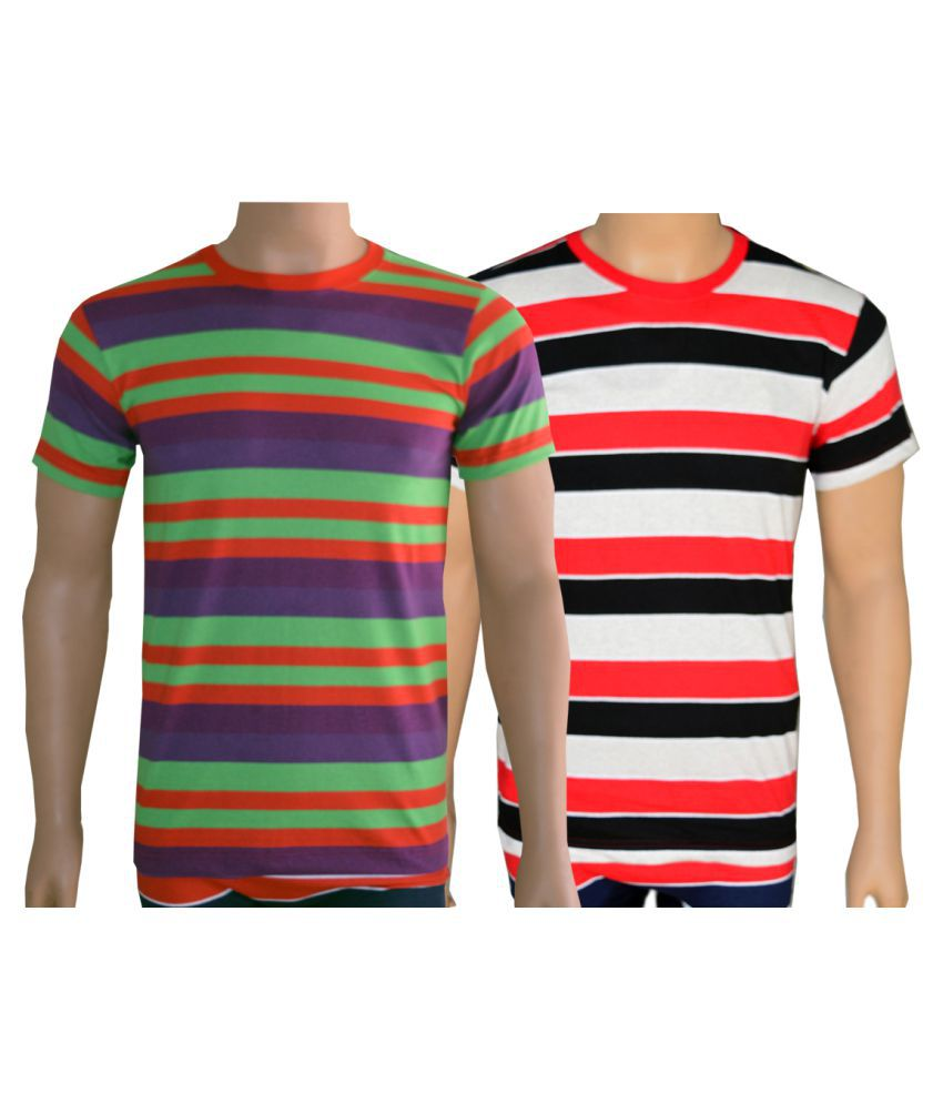 Lyril Multi Cotton T-Shirt Pack of 2