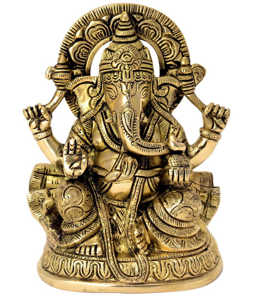 Bharatart Ganesha Brass Idol