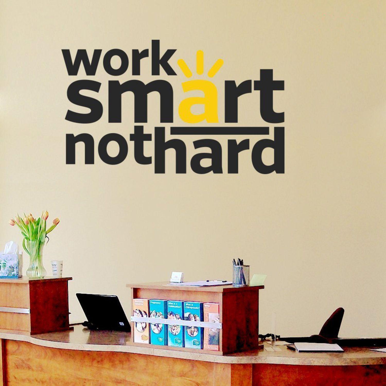 Decor Kafe Work Smart Quote Motivational Quotes Motivational Quotes PVC 3D Sticker