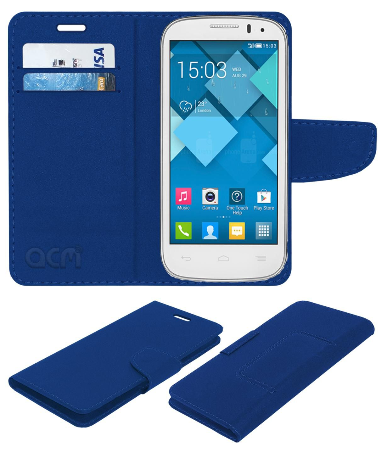 Alcatel POP C5 Flip Cover by ACM - Blue