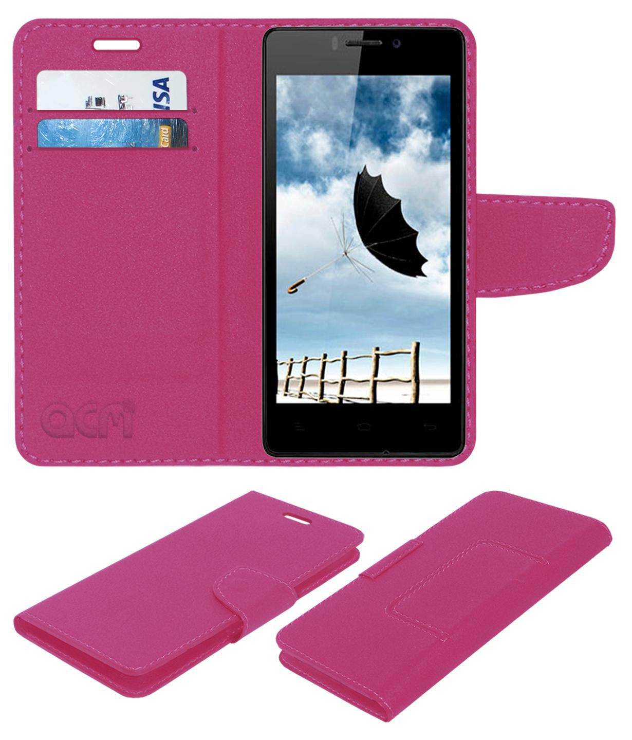 Gionee Elife E5 Flip Cover by ACM - Pink