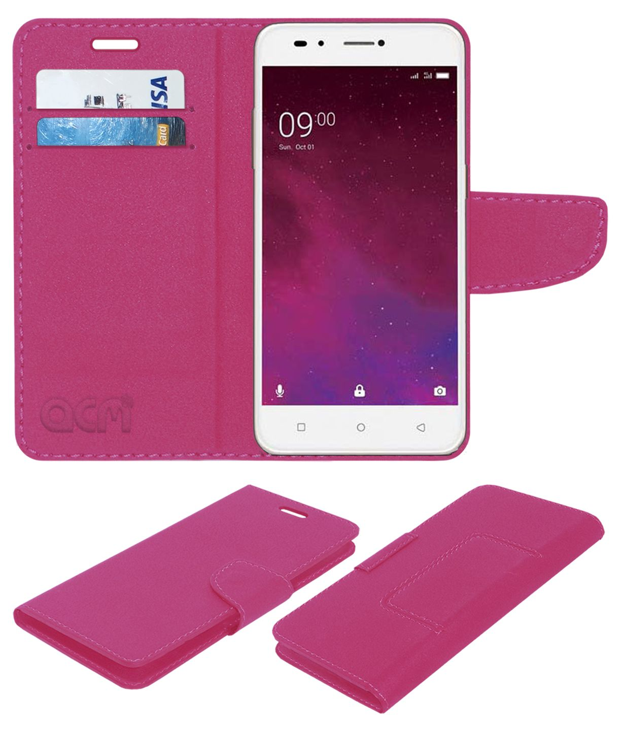 new concept 48fa8 bfb4c Lava Z60 Flip Cover by ACM - Pink