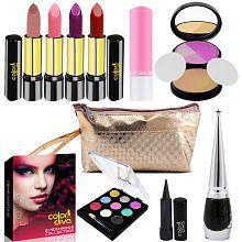 Adbeni Combo With Lipstick, Eyeshadow,Compact,Eyeliner,Kajal,Lip Balm Makeup Kit no.s Pack of 9
