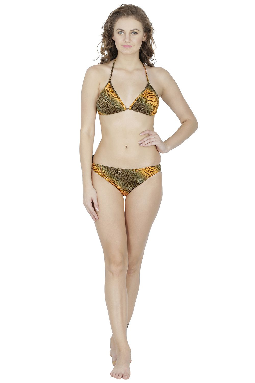 D Naked Lycra Multi Color Bikini