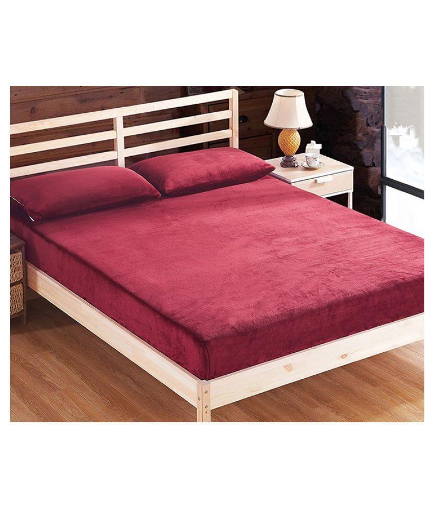 lithara luxury maroon cotton mattress protector buy lithara luxury