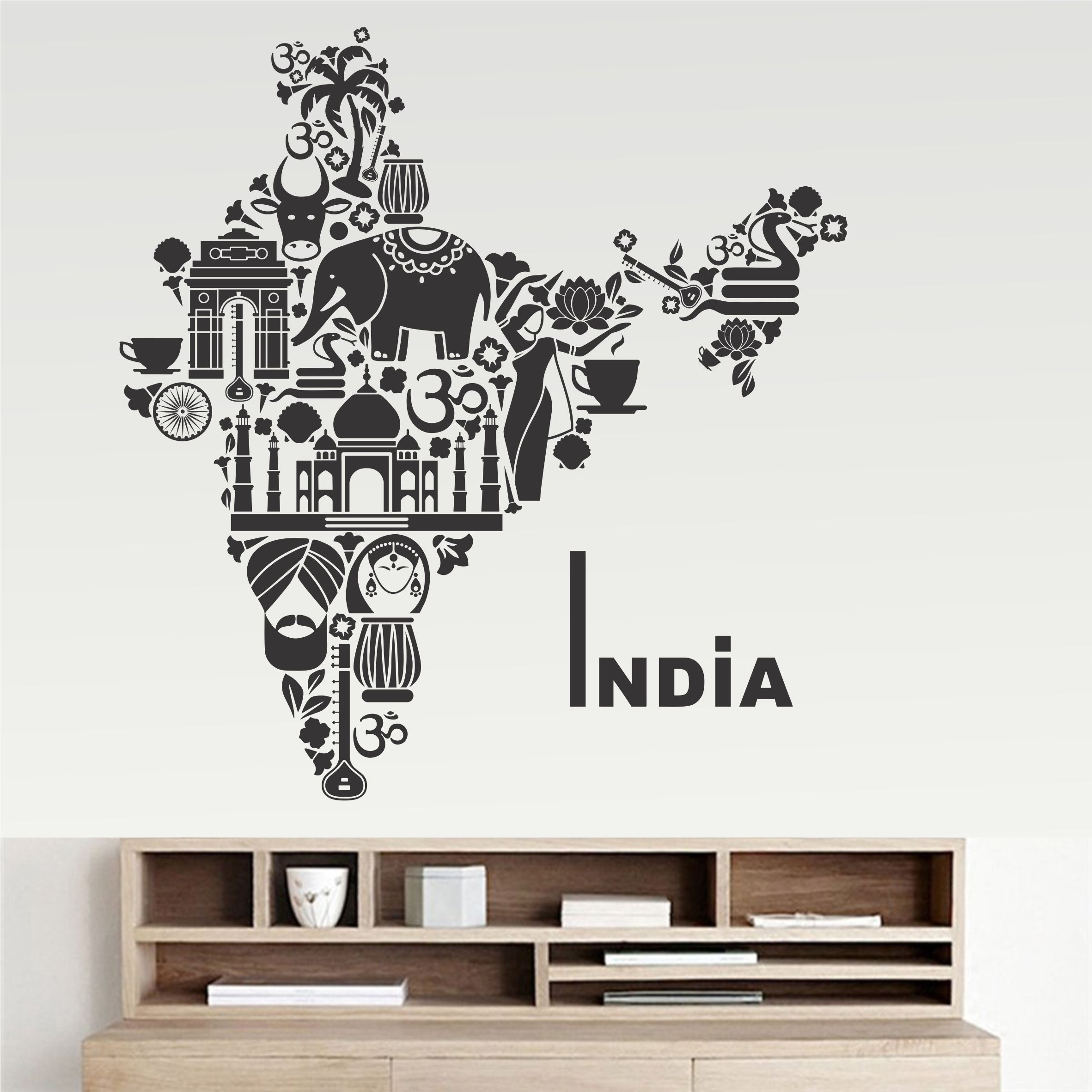 wall dreams India Map Motivational Quotes Motivational Quotes PVC Sticker