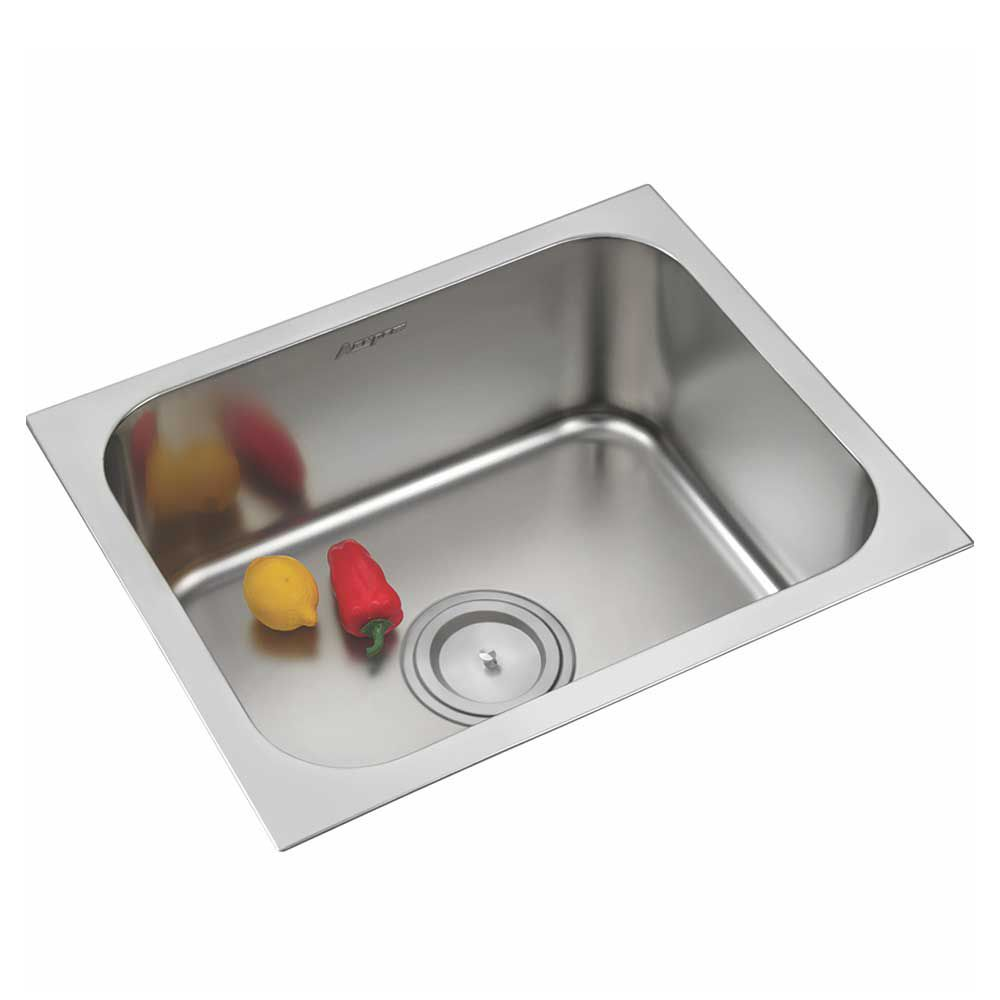 buy anupam stainless steel single bowl sink without drainboard rh snapdeal com