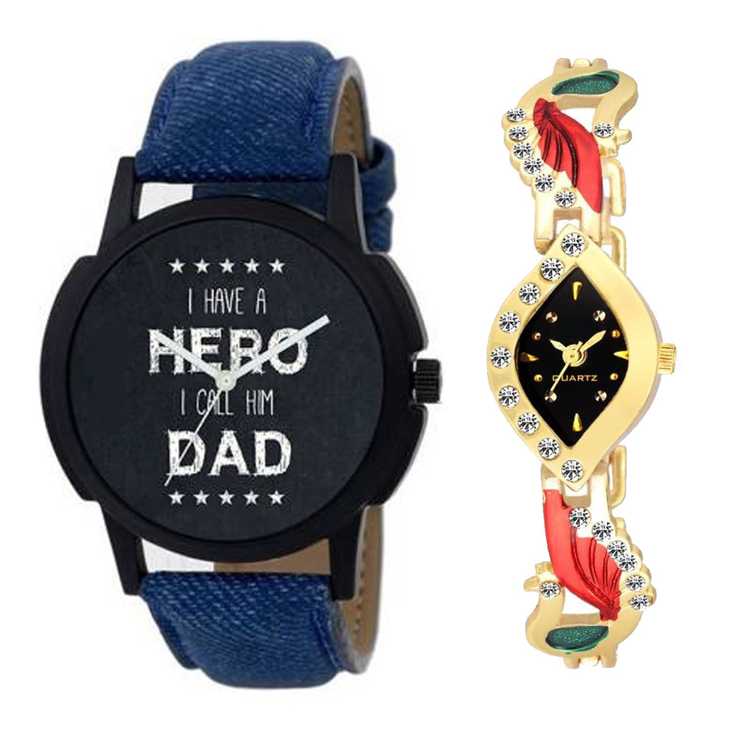OD C2 077 New Arrival Stylish bo Couple Watch For Boys & Girls
