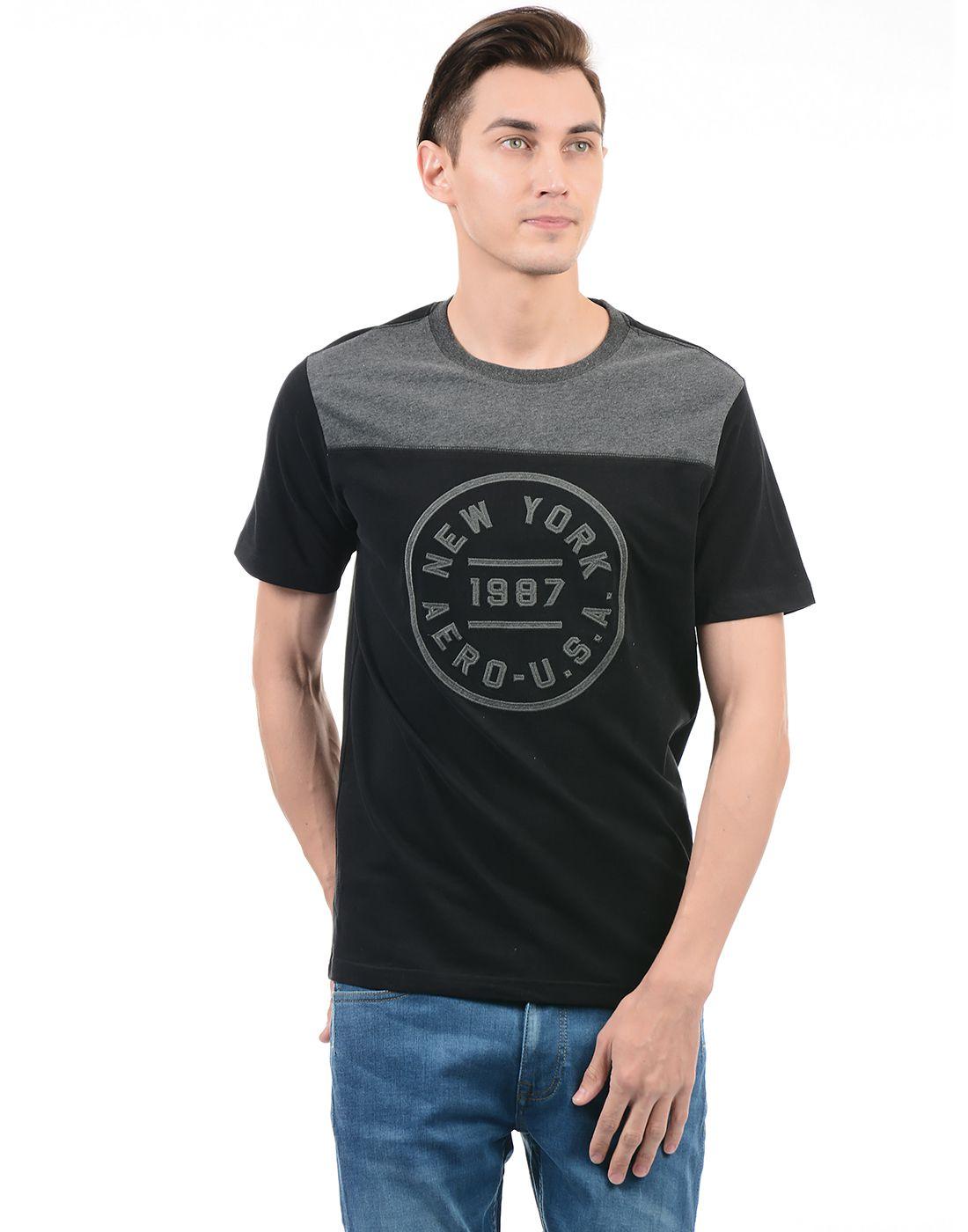 Aeropostale Black Round T-Shirt