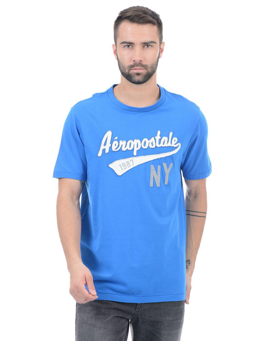 Aeropostale Blue Round T-Shirt