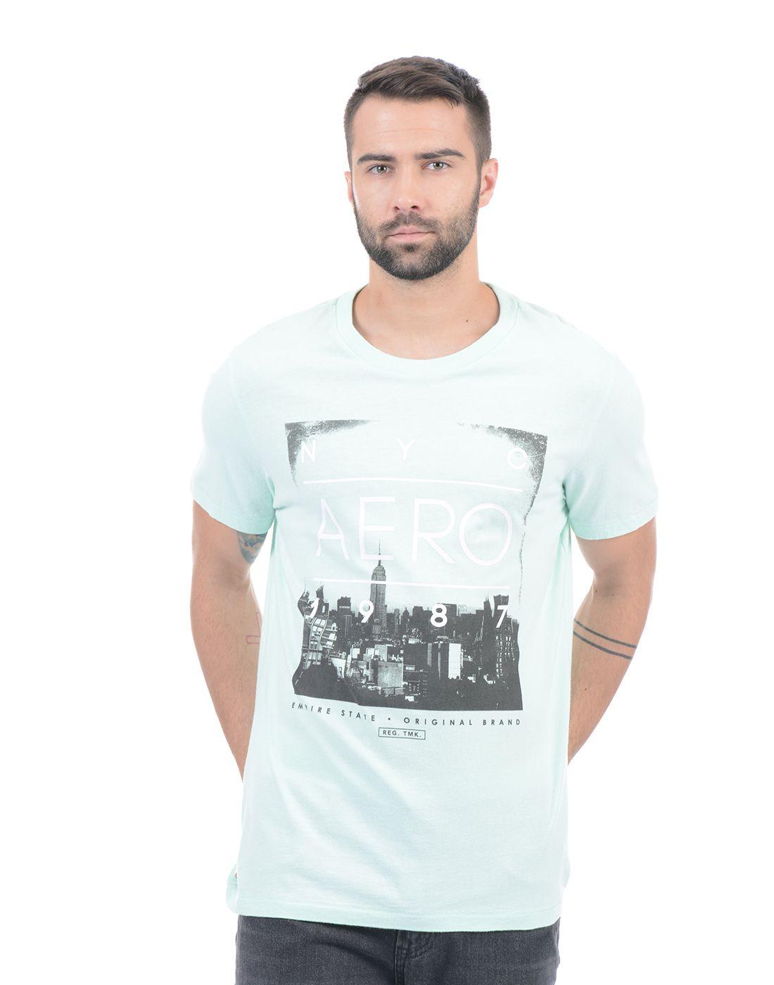 Aeropostale Green Round T-Shirt