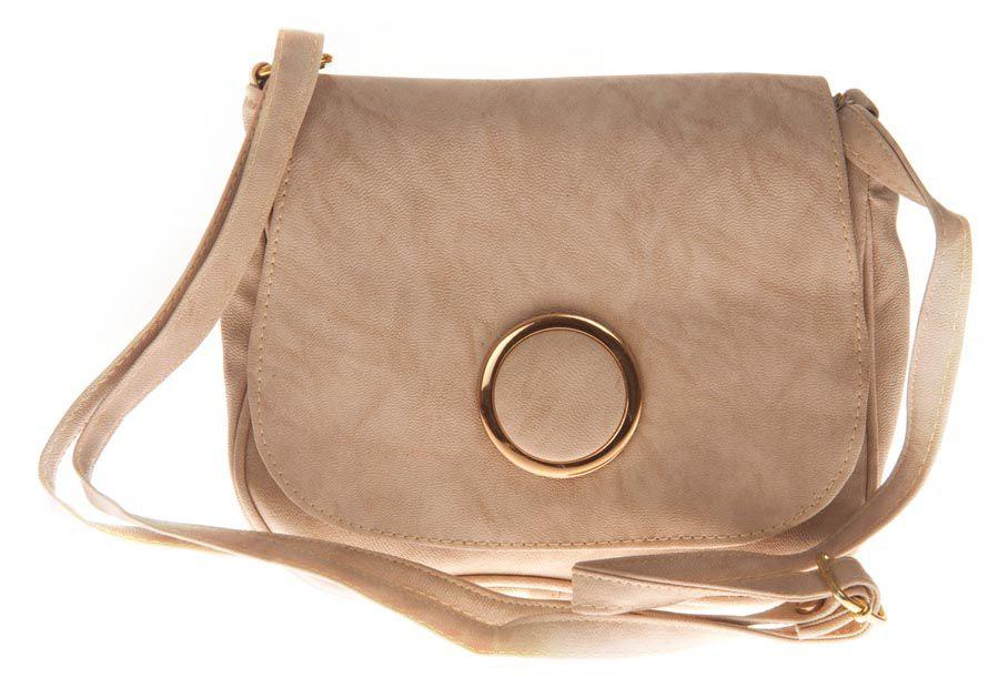 Aliado White Faux Leather Sling Bag