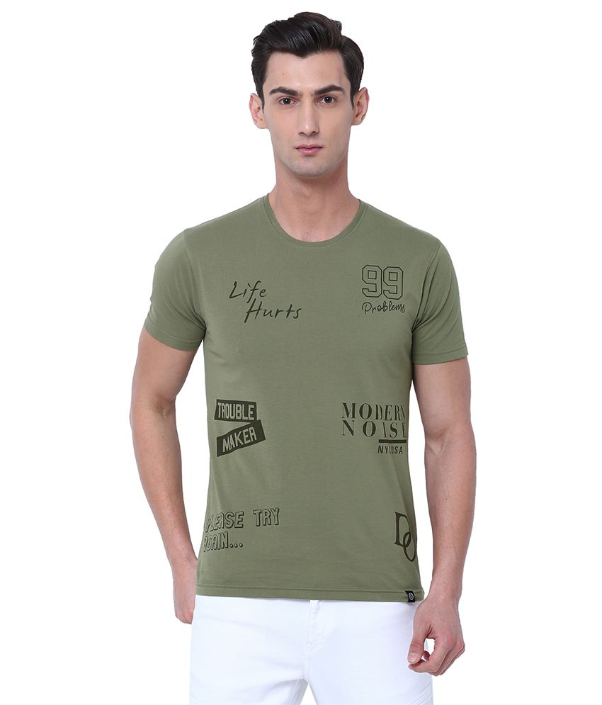 Locomotive Green Round T-Shirt Pack of 1