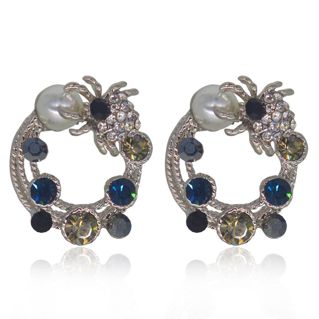 Glitters Multi Stone Designer Earrings For Women S