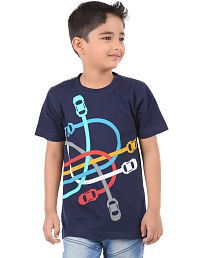 BodyGlove Boy Kids Casual Round Neck Printed Design T-Shirt, Half Sleeve, Cotton