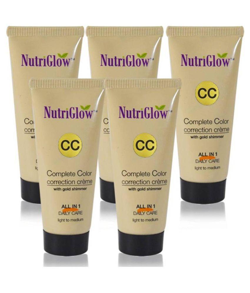 Nutriglow CC Cream Foundation light skin Fair SPF 30 Pack of 5 325 g