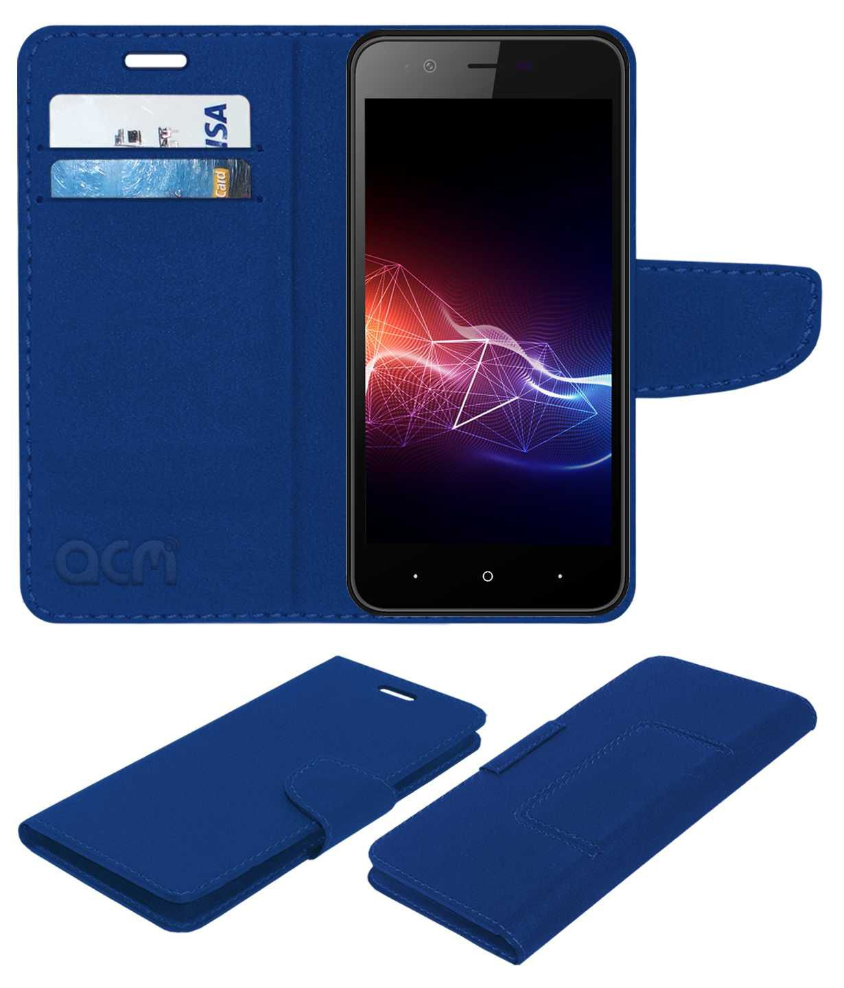 meet 3321c 1a2e7 PANASONIC P91 Flip Cover by ACM - Blue