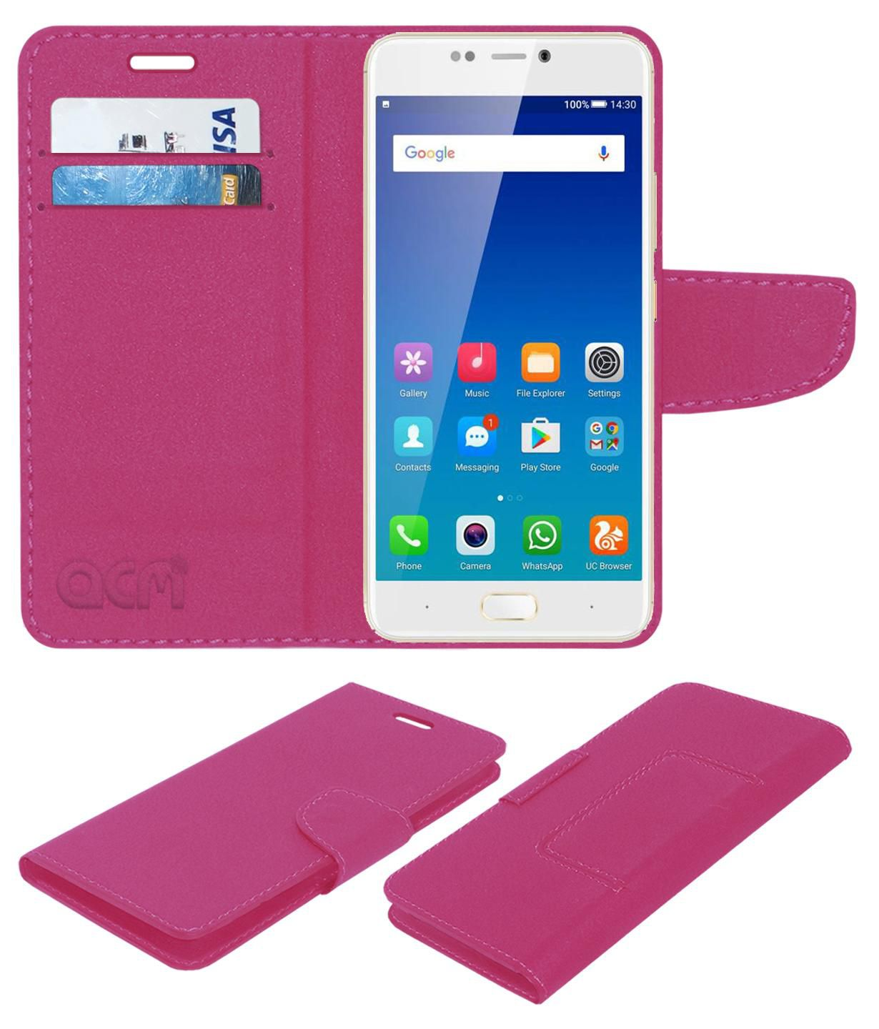 online store 4c3e4 f9b8c Gionee A1 Flip Cover by ACM - Pink